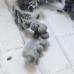 Помпошки 10 мм, цвет серый, 1 м
