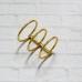 Кольцевой механизм на три кольца, диаметр 3 см, золото