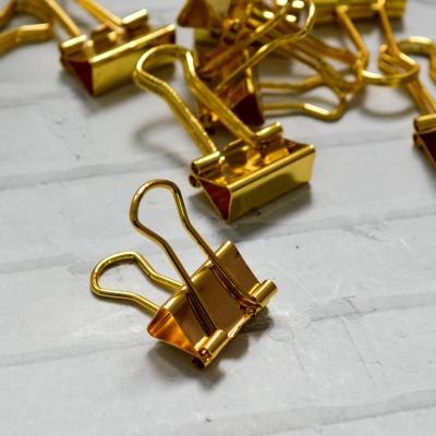 Зажимы 2 см, золото