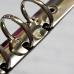 Кольцевой механизм а4 (29,5 см)на 4 кольца, диаметр 2 см, серебро (крепления в комплекте)