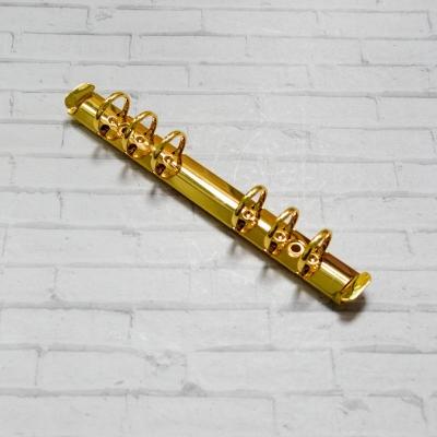 Кольцевой механизм а6 (17,5 см) на 6 колец, диаметр 2 см, золото (крепления в комплекте)