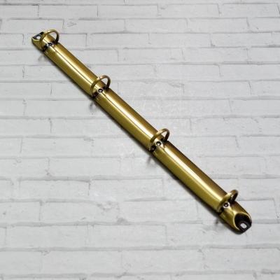 Кольцевой механизм а4 (29,5 см) на 4 кольца,  диаметр 2 см, бронза (крепления в комплекте)