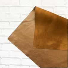 Натуральная кожа 25х35 см, бронза