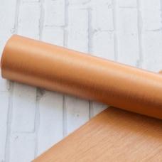 Отрез кожзама с полосатой текстурой, 33х50, цвет медь с блеском