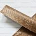 Отрез кожзама с текстурой соты, 33х50, цвет коричневый