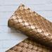 Отрез кожзама с тиснением ромб в точечку 33х50, цвет бронза