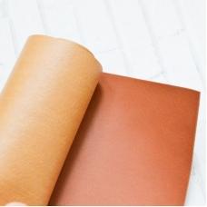 Отрез переплетного кожзама 35х50 см, цвет рыжевато-коричневый