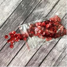 Пайетки 6 мм, красные