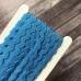 Тесьма вьюнок, отрез 1 м, синий
