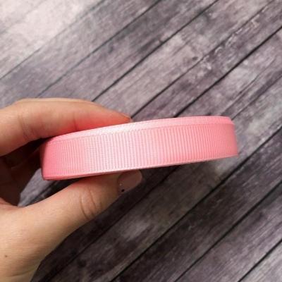 Лента репсовая 1,5 см ширина, отрез 1м, розовый