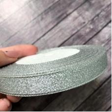 Лента серебро, 1,2 см ширина, отрез 1 м