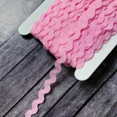 Тесьма вьюнок, отрез 1 м, розовый