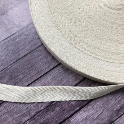 Киперная лента молочная, 1,5 см ширина, отрез 1 м