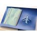 Набор для создания обложки на паспорт 6, синий, самолет
