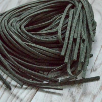 Замшевый шнур 1 м, темно-болотный