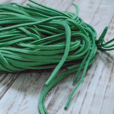 Замшевый шнур 1 м, зеленый