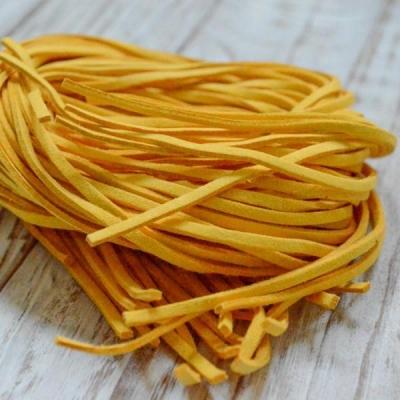 Замшевый шнур 1 м, желтый