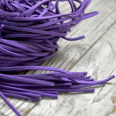 Замшевый шнур 1 м, фиолетовый