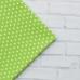 Отрез польского хлопка премиум класса 40х50 см зеленый горох