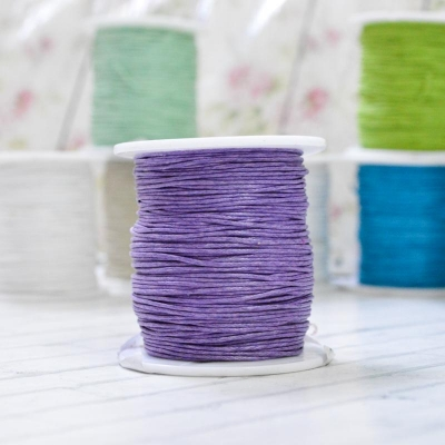 Вощеный шнур фиолетовый, 1м