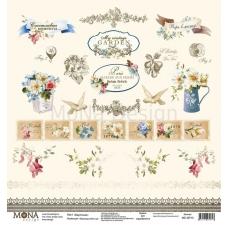Лист Карточки Французский сад 30,5x30,5 см, MoNa Design