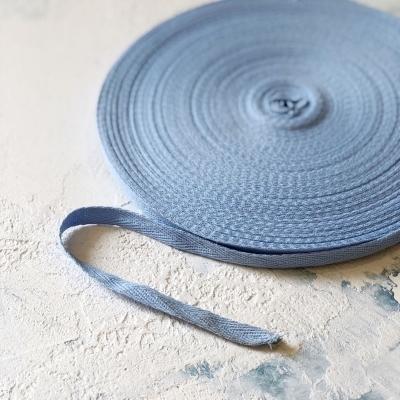 Киперная лента, ширина 1 см, отрез 1 м, голубая