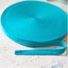 Киперная лента, ширина 1,5 см, отрез 1 м, ярко-голубая