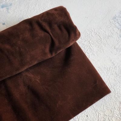 Отрез микровелюра (похож на замшу), двусторонний, 45х35 см, коричневый