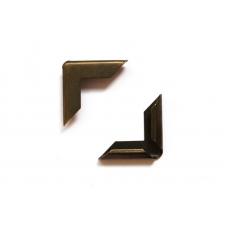 Уголки металлические для обложек 16 мм, состаренная латунь, 4 шт