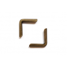 Уголки металлические для обложек 15 мм, состаренная бронза, 4 шт