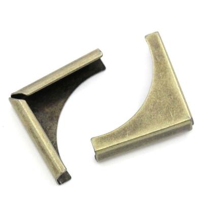 """Уголки металлические для обложек """"Полукруглые"""", бронза, 2 см, 4 шт"""