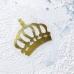 Корона из золотого зеркального термотрансфера, 5х5,5см