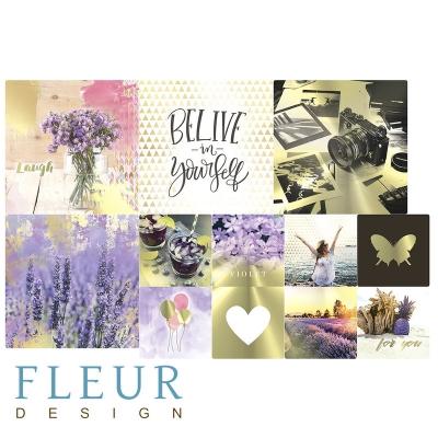 "Набор карточек ""Pretty violet"" 9,5х9,5 + 5х5 см FLEUR design"