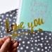 Надпись из золотого зеркального термотрансфера Love you, 10х5 см