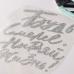 Надпись из серебряного термотрансфера с глиттером Будь смелее, 14х11,5 см