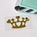 Надпись из золотого зеркального термотрансфера Корона с сердцем 6,5х4 см