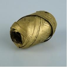 Рафия метализированная золото 3.5 мм х 10 м