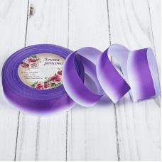 """Лента репсовая """"Градиент"""", ширина 25мм, цвет фиолетовый, 1 метр"""