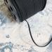 Замшевый шнур 3 мм черный, отрез 1 м
