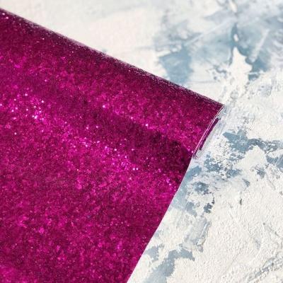 Ткань с крупным глиттером 25х34 см, цвет малиновый