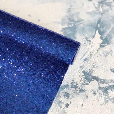 Ткань с крупным глиттером, цвет синий, 25х34 см