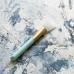 Широкая силиконовая кисть для клея голубая ручка, белая кисть