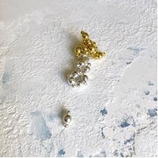 Магнит-полусфера, 6 мм диаметр, золото, пара