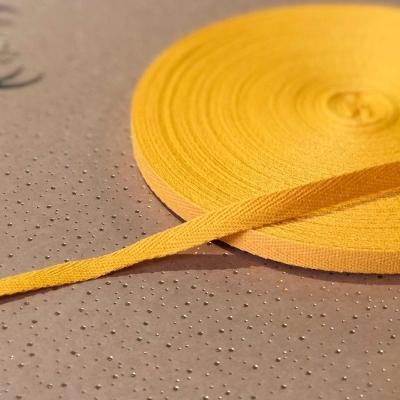 Киперная лента, ширина 1 см, отрез 1 м, теплый желтый