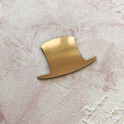 Шляпа из пластика с золотым зеркальным покрытием, 6х3,7 см