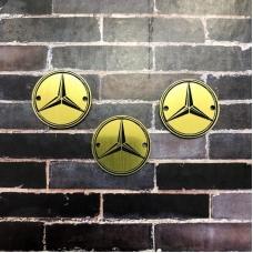 Табличка Mercedes 3 см, золото