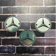 Табличка Mercedes 3 см, серебро