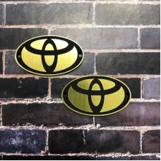 Табличка Toyota 4х2 см, золото