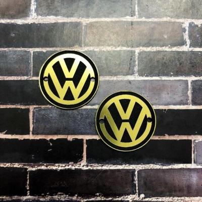 Табличка Volkswagen 3 см, золото