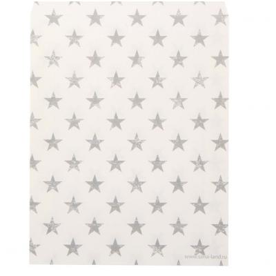 Бумажный пакет «Звёздочки», 13 х 16 см